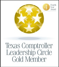 Texas Comptroller Leadership Circle Gold member - Logo