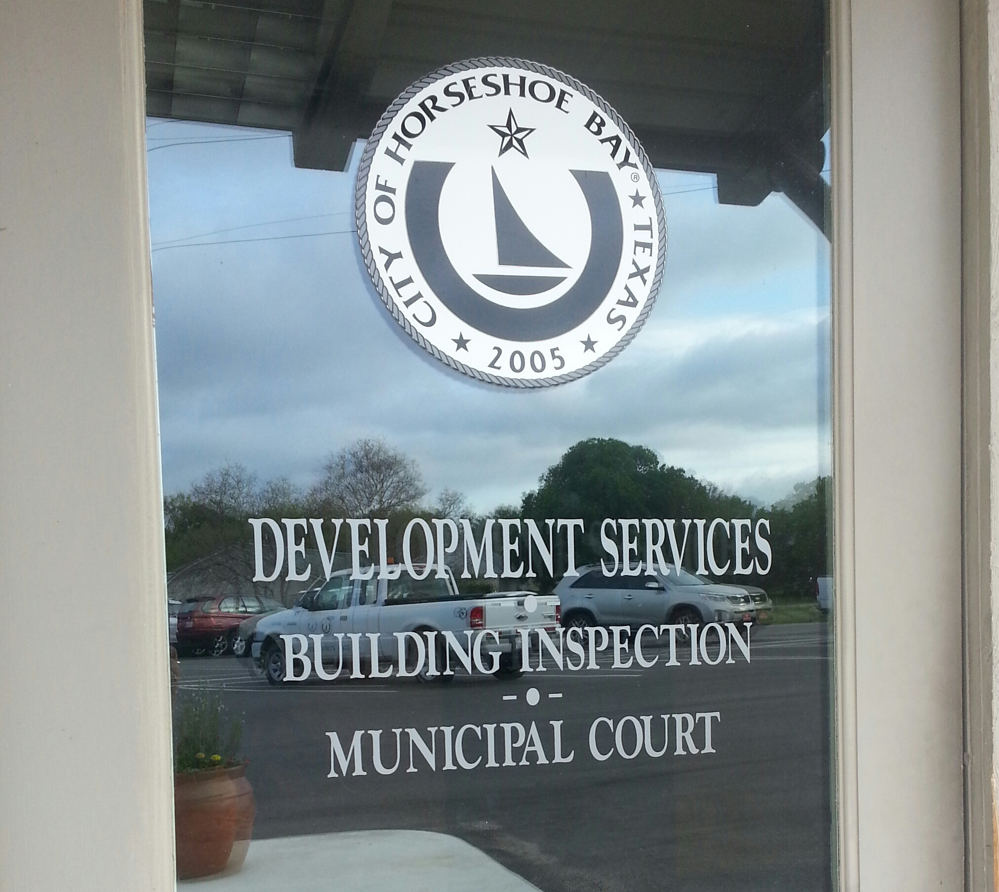 Picture of Development Services Dept door