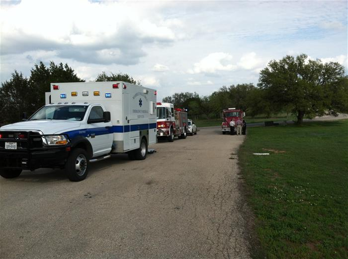Ambulance and Fire Trucks