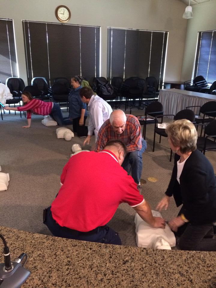 Fire Engineer Grant Teaching Citizens CPR